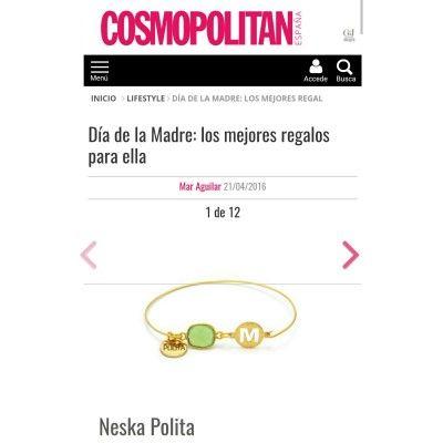 pulsera initials neska polita iniciales revista cosmopolitan