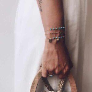 pulseras turquesa