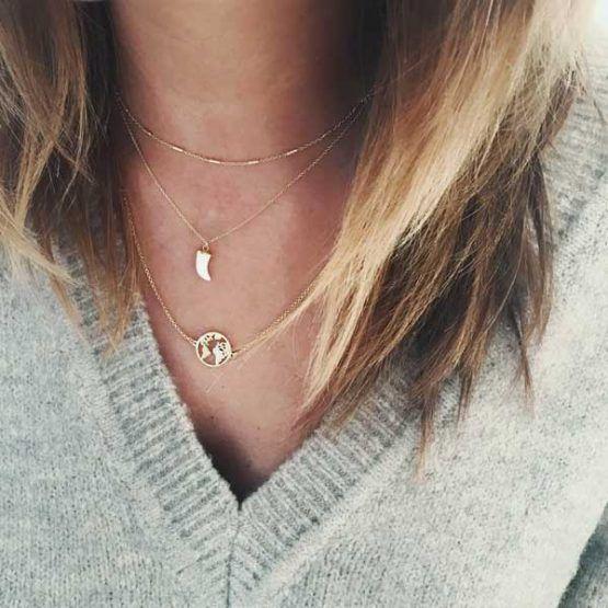 collares plata oro
