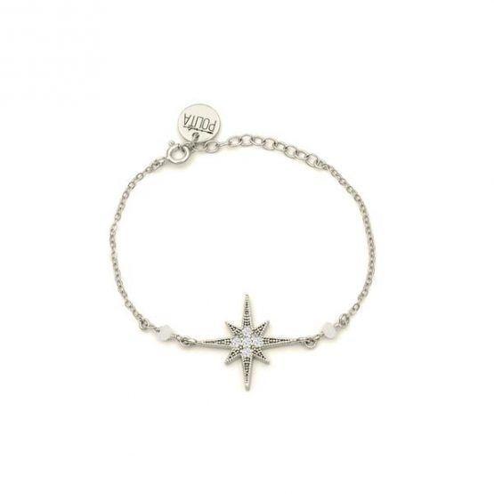 Pulsera-north-star-blanco-plata-cadena-neska-polita