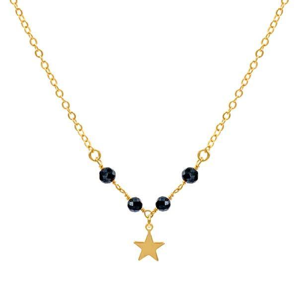 Choker-estrella-star-minerals-negro-pirita oro-neska-polita
