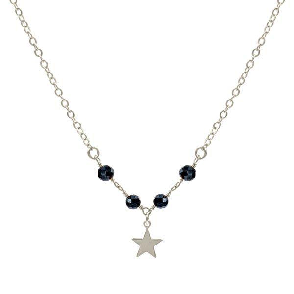 Choker-estrella-star-minerals-negro-pirita plata-neska-polita