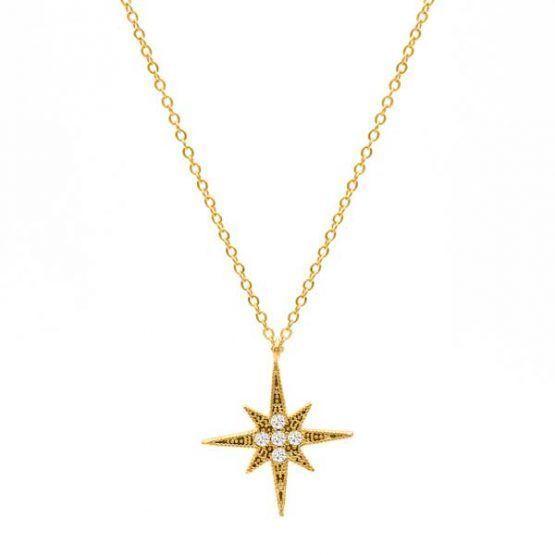 collar-boho-north-star-estrella-del-norte-oro neska-polita