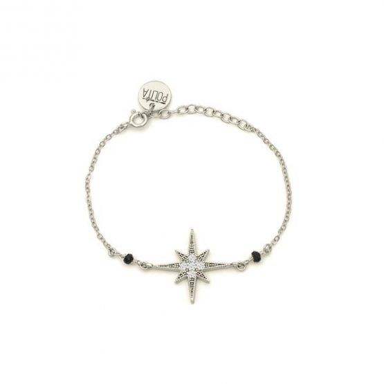 pulsera north star negro plata