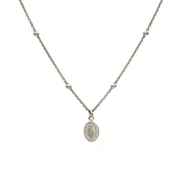 collar virgin plata