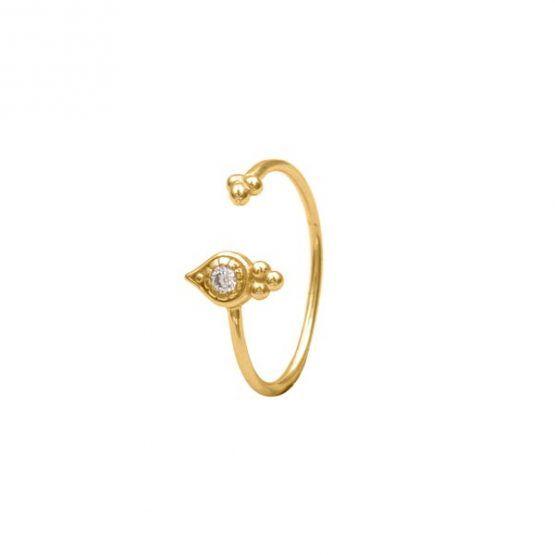 anillo indira oro