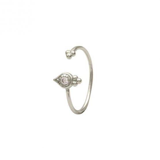anillo indira plata