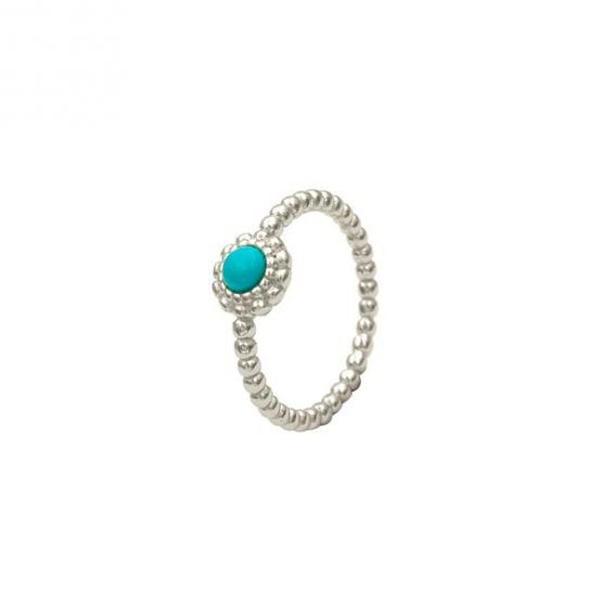 anillo turquoise plata