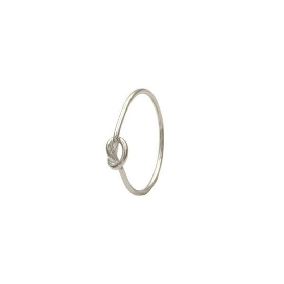 anillo knot plata