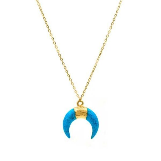 collar boho turquoise