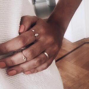 anillos boho oro