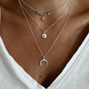 collares plata turquesa