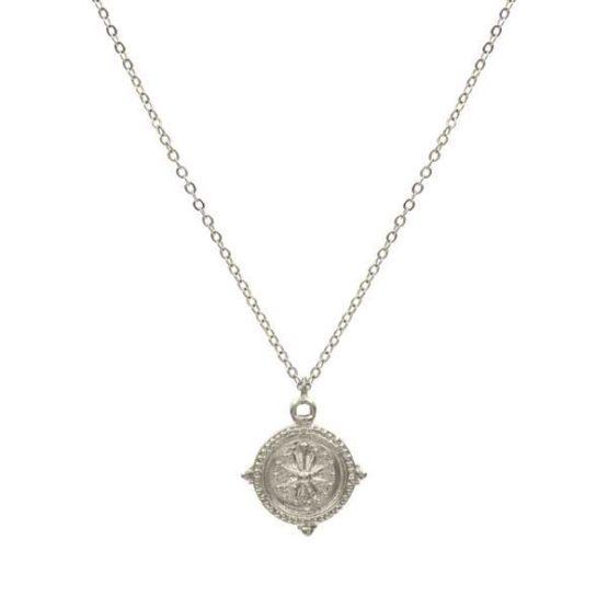 collar compass plata