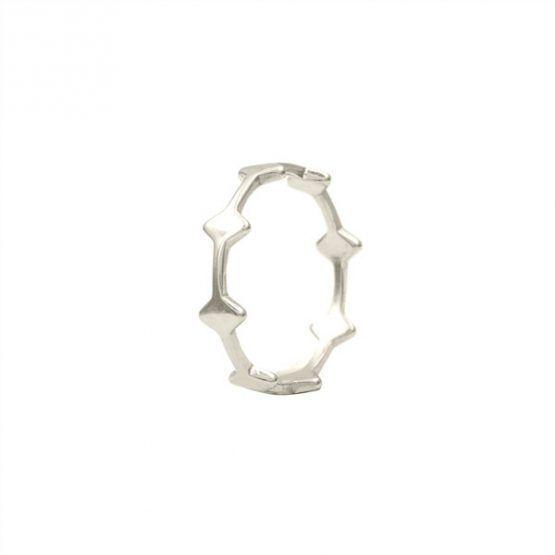 anillo rhombus plata