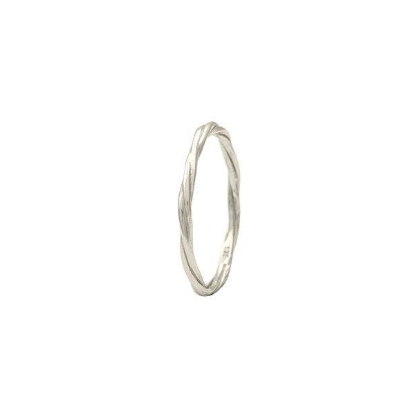 anillo twist plata