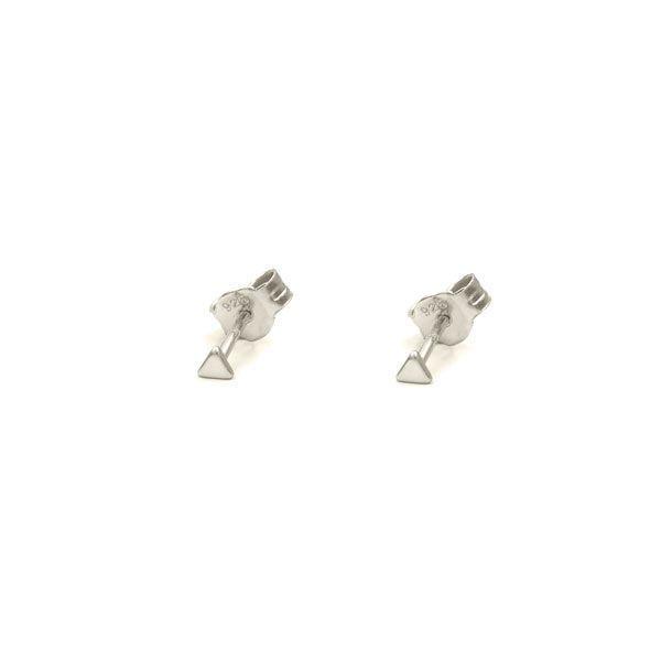 450b903b5 Tiny Triangle Silver Earrings – Neska Polita