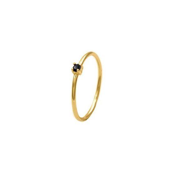 anillo black zircon oro