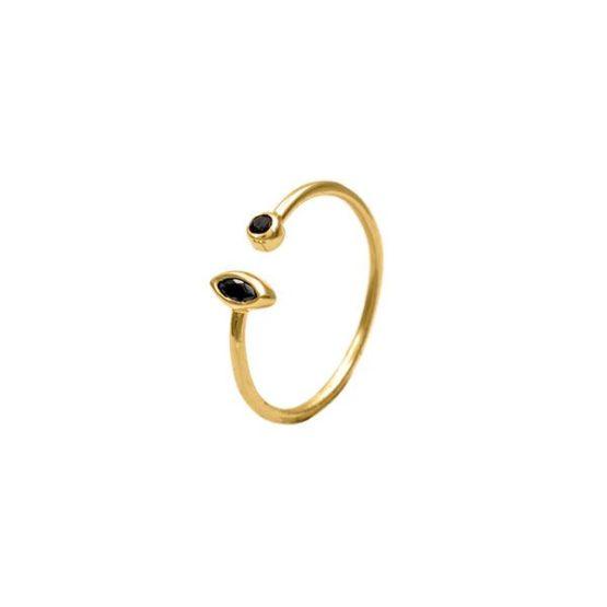 anillo double zircon oro