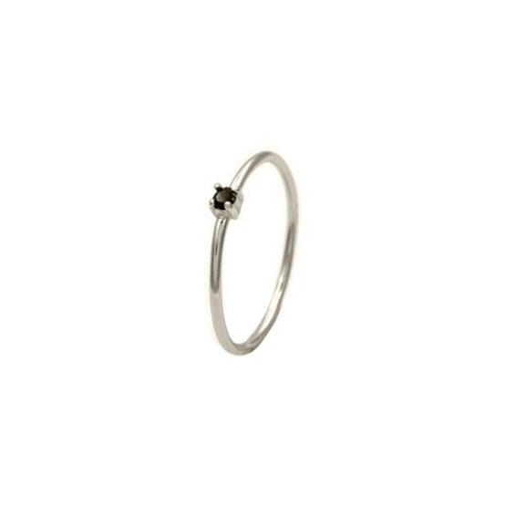 anillo black zircon plata