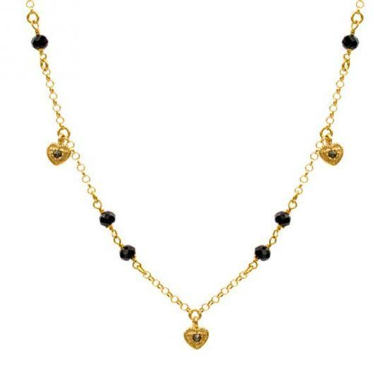 collar heart oro