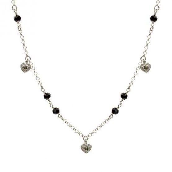 collar heart plata