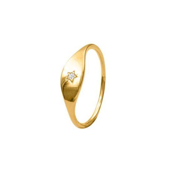anillo star oro