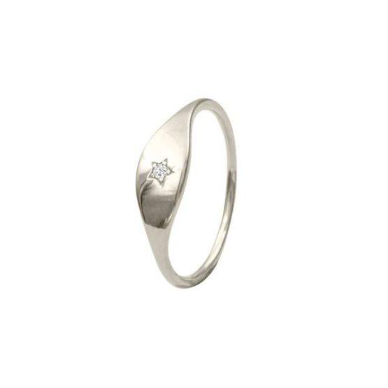 anillo star plata