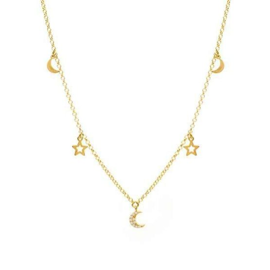 galassia gold necklace