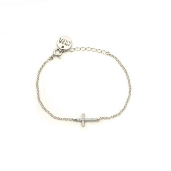 pulsera cross plata