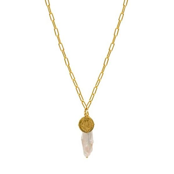 tulum gold necklace