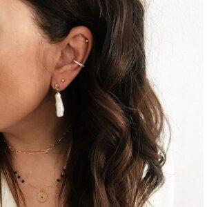 pendientes perla barroca