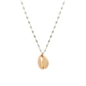 cowrie silver necklace