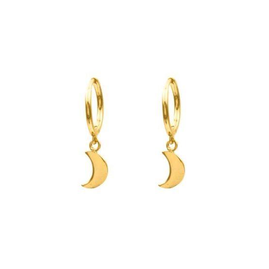 pendientes moon oro