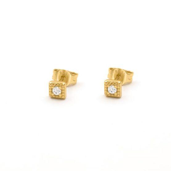pendientes square oro