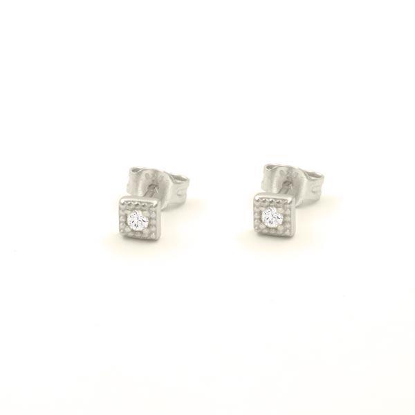 pendientes square plata