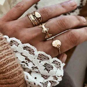anillos plata banada oro