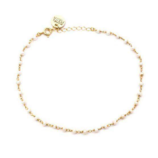 tobillera minerals perla oro