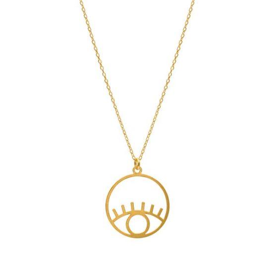 eye gold necklace