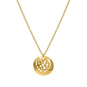 cuore gold necklace