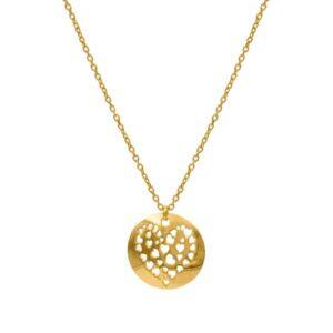 collar cuore oro