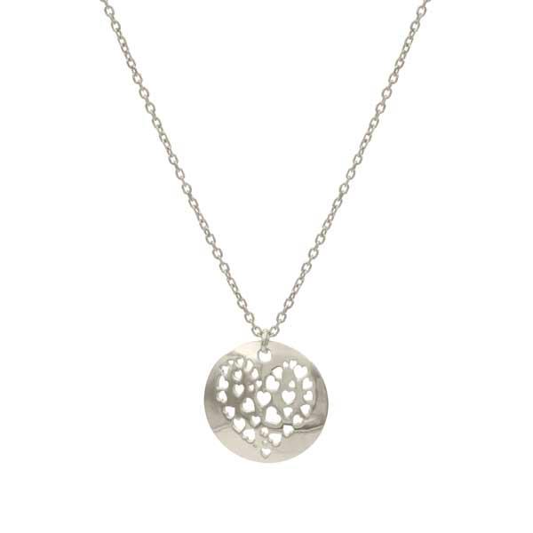 collar cuore plata