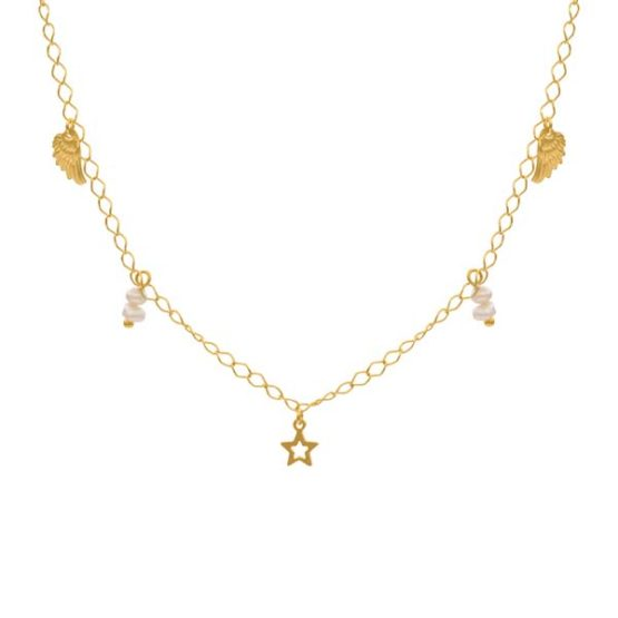 wings gold necklace