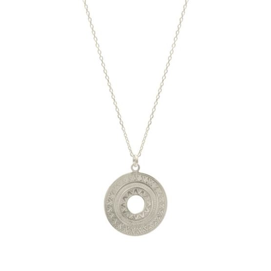 azteca silver necklace