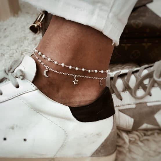 925 sterling silver anklet by neska polita