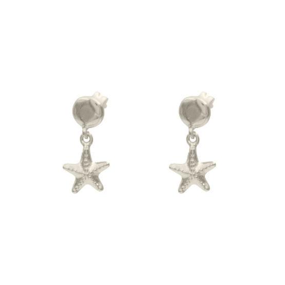 pendientes starfish plata