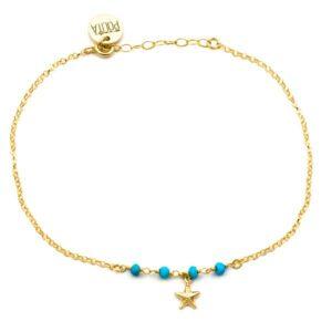 tobillera starfish oro