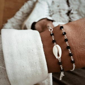 pulseras plata de ley concha