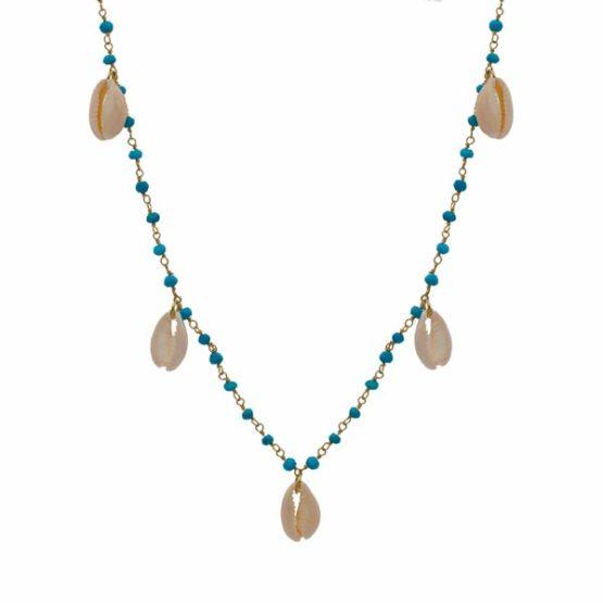 collar mykonos turquesa oro
