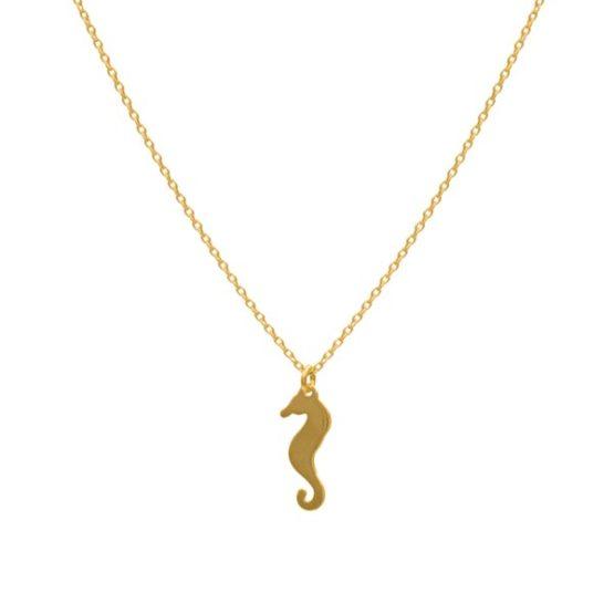 collar seahorse oro