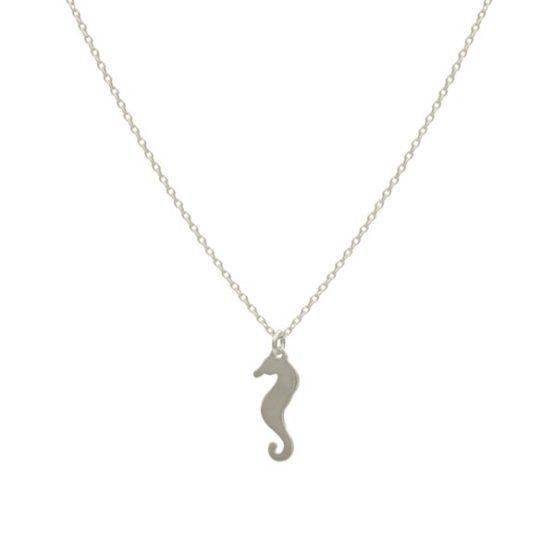 collar seahorse plata